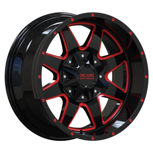 IO-04 GLOSS BLACK RED MILLED