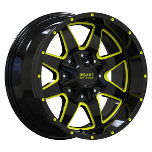 IO-04 Gloss Black Yellow Milled