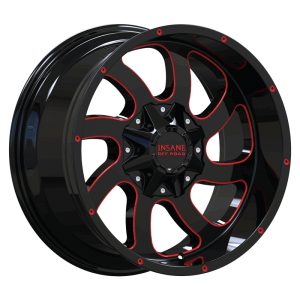 IO-05 Gloss Black Red Milled
