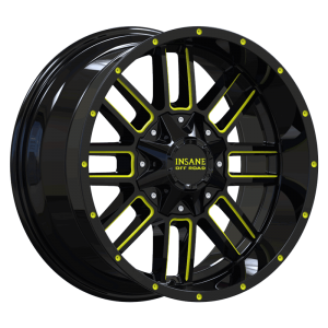 IO-07 Gloss Black Yellow Milled