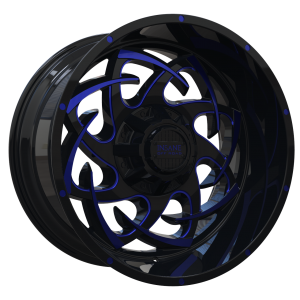 IO-08 Gloss Black Blue Milled